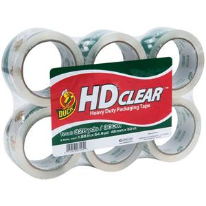 Duck Brand® HD Clear™ High-Performance Packaging Tape (6 Pack)