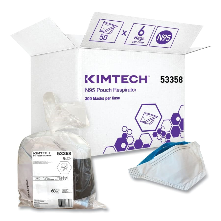 Kimtech N95 Respirator, Disposable, Non-Oil Aerosolized Particulate Matter 50/Bag - 53358