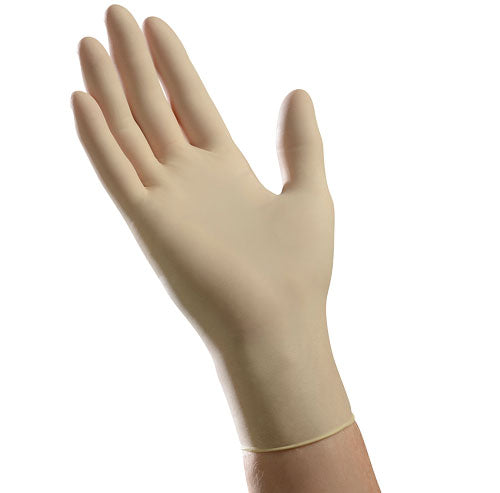 LLG5201 Tradex AMBITEX Latex GP Gloves Cream, Large, Powder Free 10 / 100 cs
