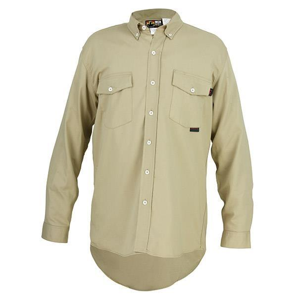 MCR Safety Flame Resistant (FR) Work Shirt Max Comfort™ - Tan - S1T