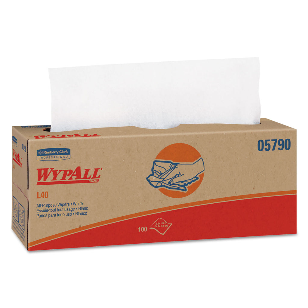Soft All Purpose - L40 Towels, Pop-Up Box, White, 16.4 X 9.8, 100/box, 9 Boxes/carton - 05790KC