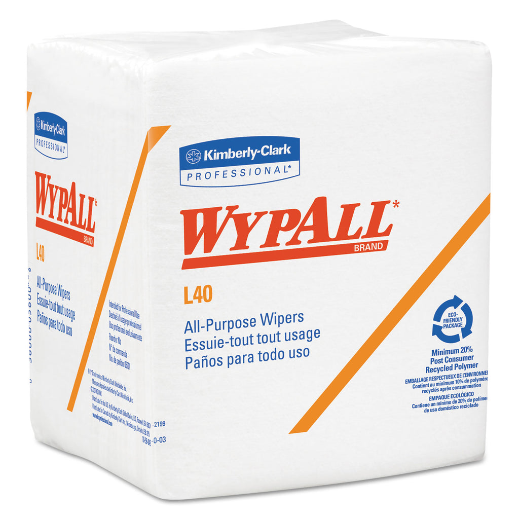 Soft All Purpose - L40 Towels, 1/4 Fold, White, 12.5 X 12, 56/box, 18 Packs/carton - 05071KC