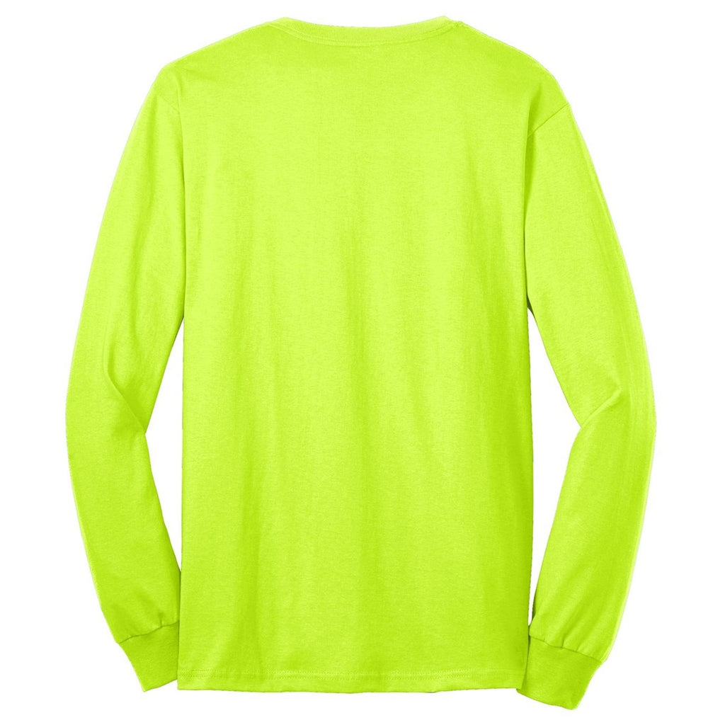 Safety Green LS - 50/50 Cotton/Poly NO LOGO