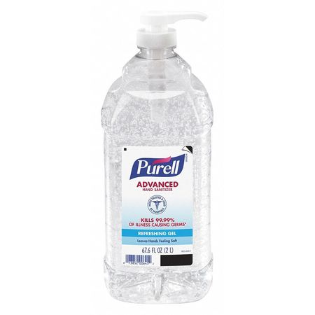 Gojo® Purell® Advanced Instant Hand Sanitizer, 2 L Pump Bottle - 962504