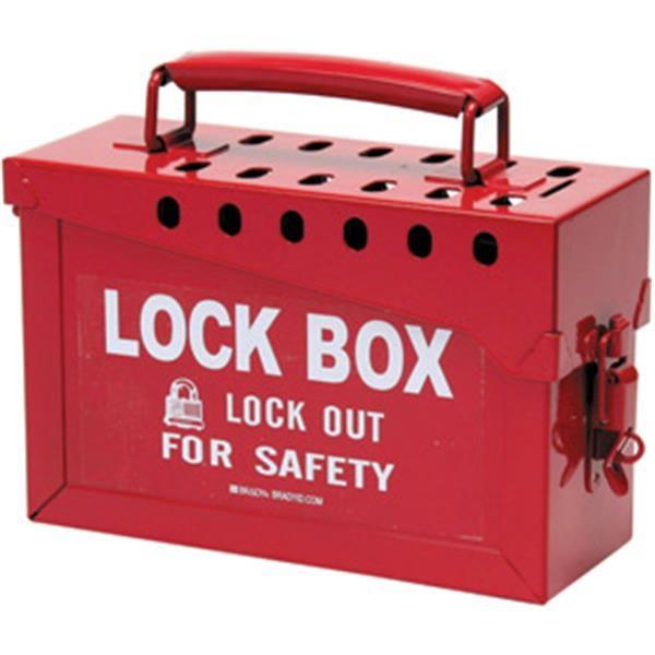 Brady Red Lock Box - 65699