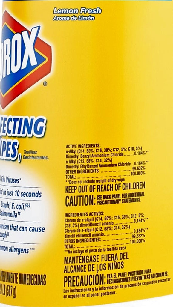 Clorox 75-Count Lemon Fresh Scented Bleach Free Clorox Disinfecting Wipes - 15948