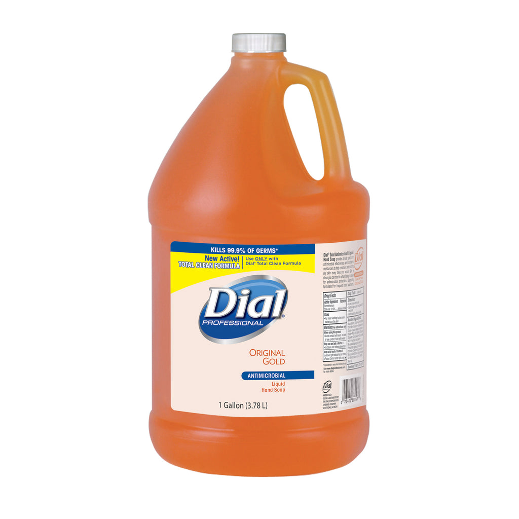 Dial Gold Liquid Hand Soap 1 Gallon, Antimicrobial, 4/cs