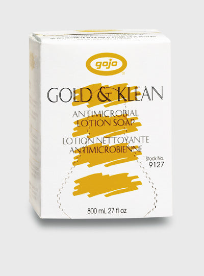 Gold & Klean Antimicrobial Soap 800 ml refills 12 /cs