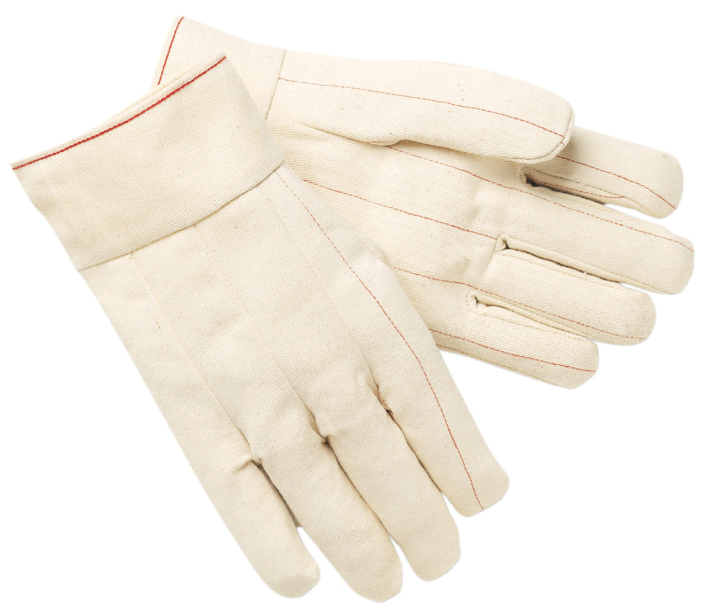 "MCR Safety® Double Palm Glove, Nap-Out, 2.5"" Plasticized Band Top, Large - Dozen - 9118B"