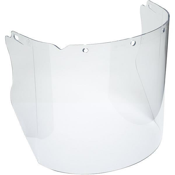 "MSA V-Gard® General-Purpose Contoured Polycarbonate Visor, 8"" x 17"" x 0.06"", Clear"