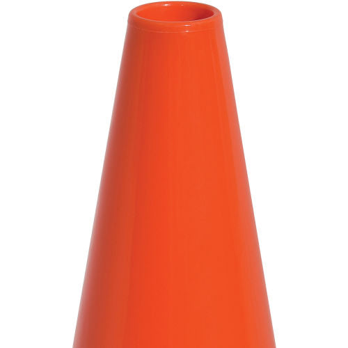 "Cortina DW Series 18"" Traffic Cone, Non-Reflective, Black Base, 3 lbs - 0350005"