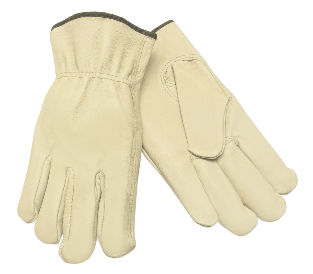 MCR Safety® Pigskin Leather Drivers, Keystone Thumbs - Dozen - 3401