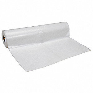 "Clear Polyethylene Sheeting 50""x200' Roll"