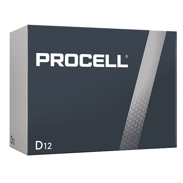Duracell Procell Battery, Non-Rechargeable Alkaline, 1.5 V, D - 12 pack