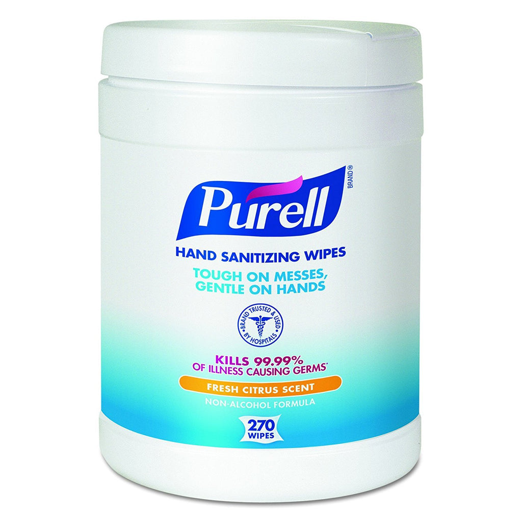PURELL® Hand Sanitizing Wipes - 270 Count Eco-Fit Canister - 913306