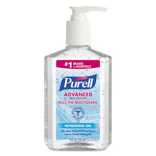 Gojo® Purell® Advanced Instant Hand Sanitizer 8oz Pump Bottle, 12/Case 965212GJ