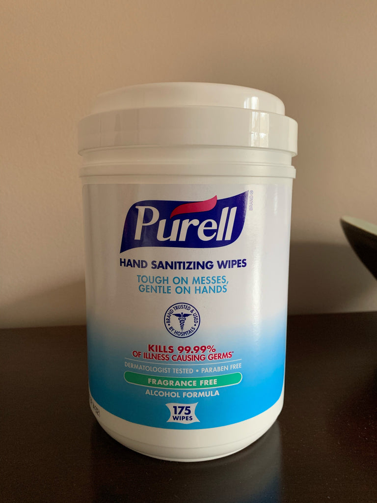 Purell® Hand Wipes - Alcohol Formulation Sanitizing Wipes, 175 count - 903106