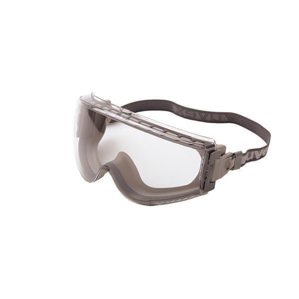 Honeywell Uvex® Stealth Goggles, Gray Body, Clear Uvextreme® Lens, & Neoprene Headband, 1/Each - S3960C