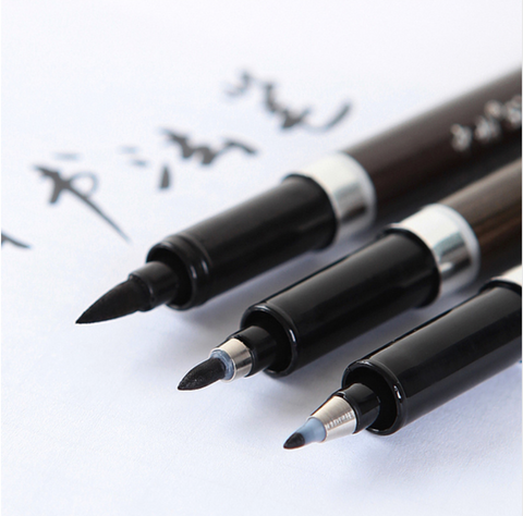 3 pc Calligraphy Brush Pens