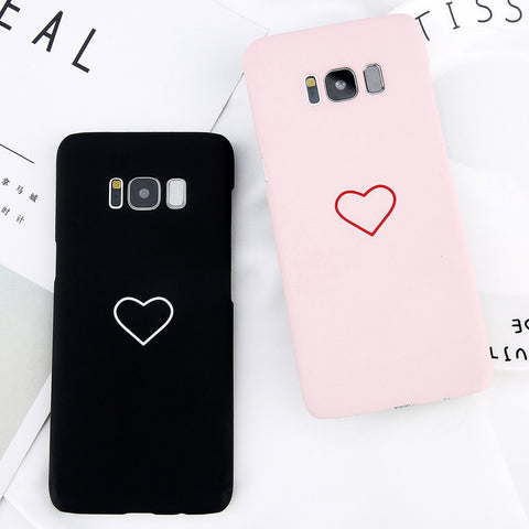 Simple Matte Heart Case