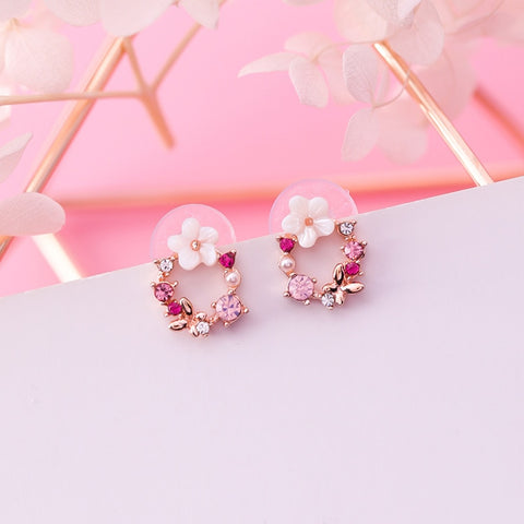 Wreath Rhinestone Earrings