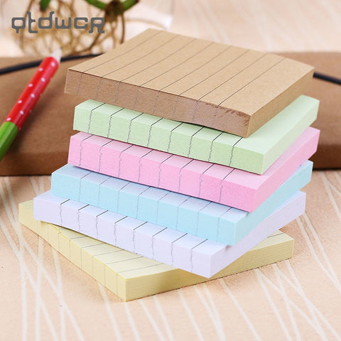 Solid Lined Sticky Notes