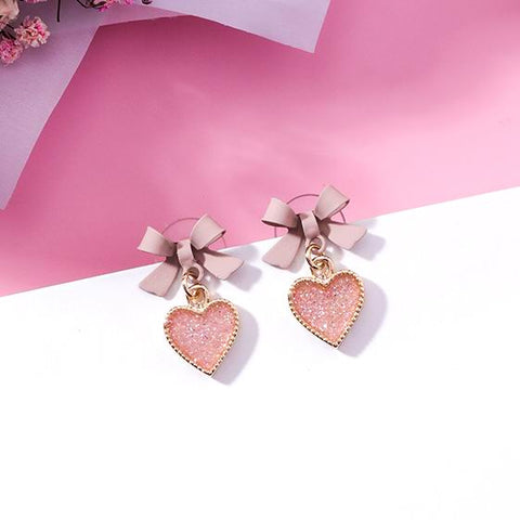 Bowknot Heart Earrings