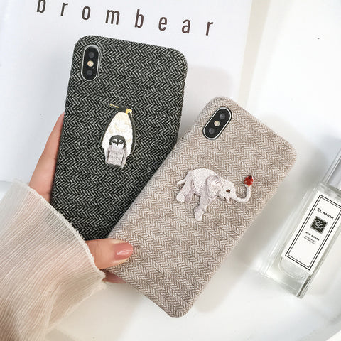 Embroidery Animal Case