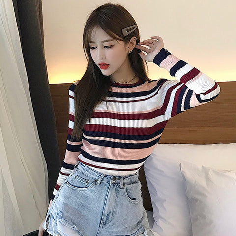 Striped Crew Neck Shirt