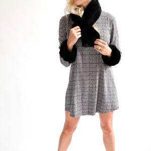Karina Faux Fur Trim Tunic