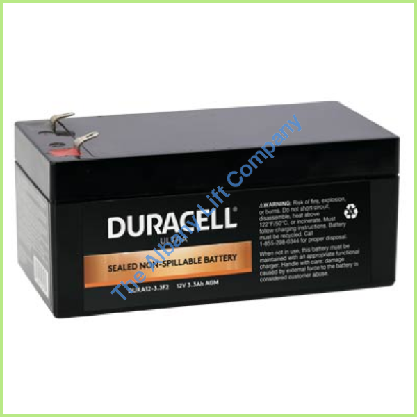 12V/3.3Ah Battery With F1 Terminals Parts