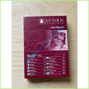 Acorn Or Brooks Stairlift T502 Multilingual User Manual Parts