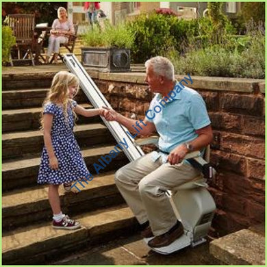 Brooks Outdoor Straight Stairlift