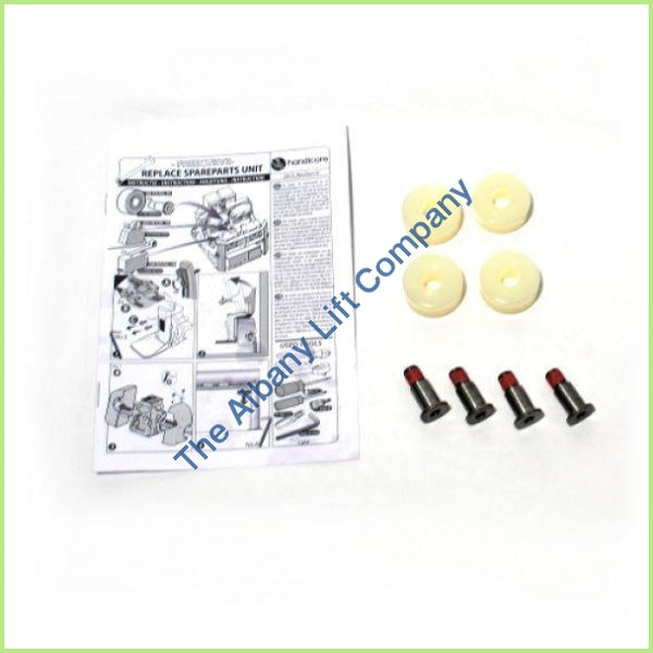 Handicare Freecurve Back Rollers Set Inc Axle Parts