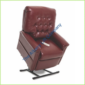 Pride Lc-358S Burgundy Lexis Sta Kleen Reclining Lift Chair