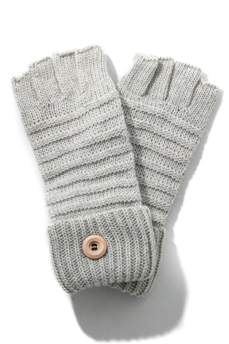 Ribbed Fingerless Knitted Gloves - Olive Vines Boutique