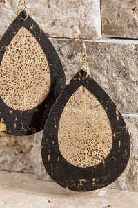 Teardrop Crok Filigree Earrings - Olive Vines Boutique
