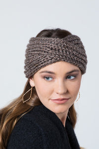 Rib Stitch Pattern Headband - Olive Vines Boutique