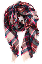 Load image into Gallery viewer, Winter Wonderland Plaid Scarf - Olive Vines Boutique