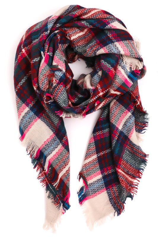 Winter Wonderland Plaid Scarf - Olive Vines Boutique