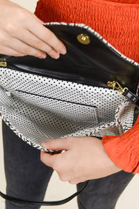Woven Patterned Envelope Clutch - Olive Vines Boutique