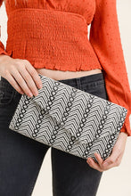 Load image into Gallery viewer, Woven Patterned Envelope Clutch - Olive Vines Boutique