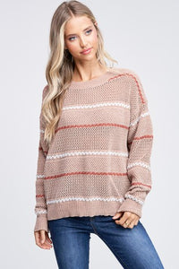 Textured Chenille Sweater - Olive Vines Boutique