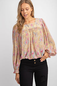 Vivienne Square Neck Blouse - Olive Vines Boutique