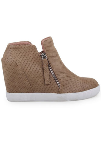 Out on the Town Wedge Sneaker - Olive Vines Boutique