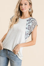 Load image into Gallery viewer, Mixed Print French Terry Top - Olive Vines Boutique
