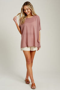 Beautiful Day Boxy Top - Olive Vines Boutique