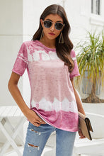 Load image into Gallery viewer, Tie Dye Pattern Summer Short Sleeves - Olive Vines Boutique