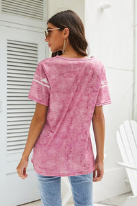 Tie Dye Pattern Summer Short Sleeves - Olive Vines Boutique
