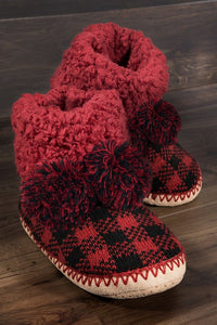 Buffalo Plaid Slippers - Olive Vines Boutique